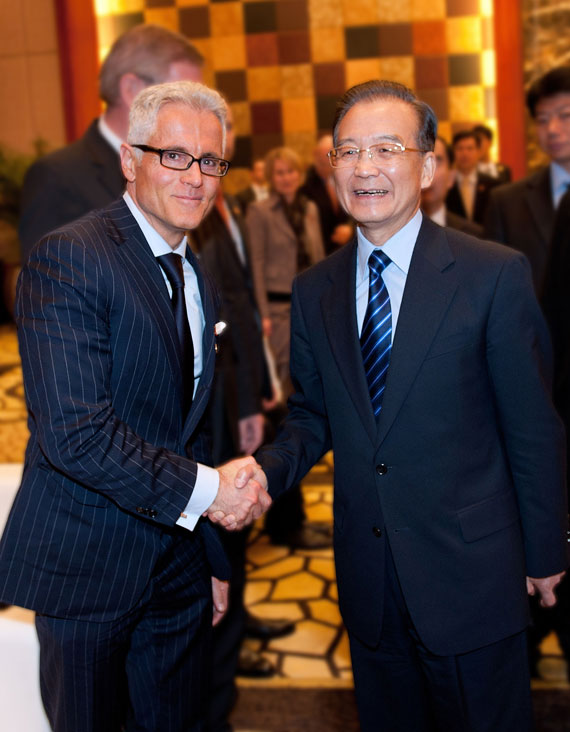 Philipp Bayat, CEO of the BAUER GROUP, and China's Prime Minister Wen Jiabao