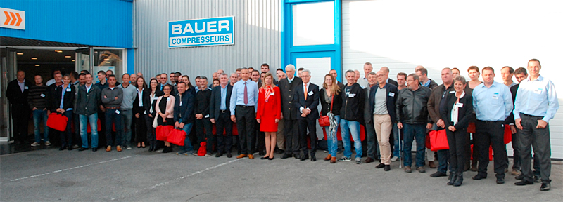 Group photo BAUER France at the 30th Year Anniverary celebration on 1st October 2015